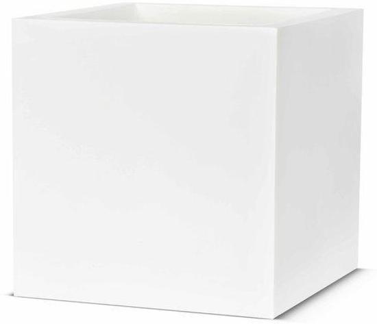 Witte Bloempot Vierkant.Capi Lux Pot Vierkant 40x40x40 Wit