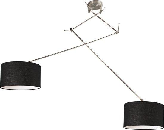 Bol qazqa hanglamp blitz ii staal met kap cm zwart