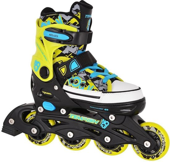 77acb35a248 bol.com   Tempish Rebel Now Inline Skates junior zwart/groen mt 29/32