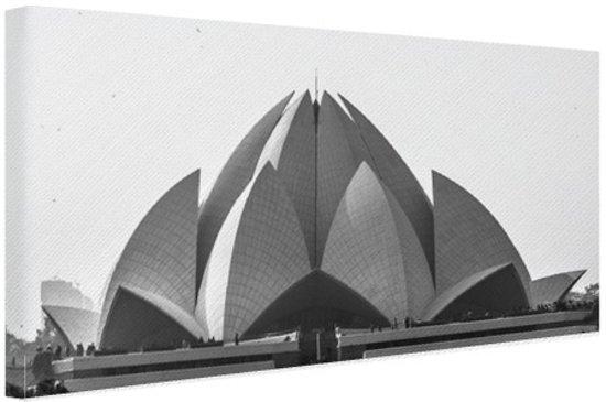 Bol.com de lotus tempel delhi canvas 120x80 cm foto print op