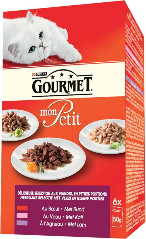 Gourmet Mon Petit - Vlees - Kattenvoer - 6 x 50 g