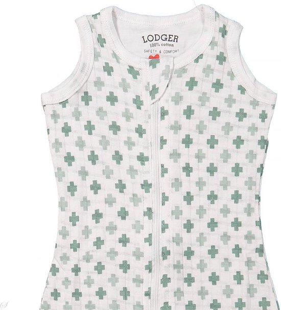 Lodger Baby slaapzak - Hopper Solid - Groen - Mouwloos - 68/80