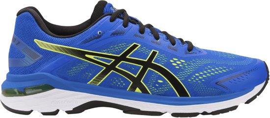 Asics GT-2000 7 Hardloopschoenen Heren Sportschoenen - Maat 43.5 - Mannen - blauw/zwart/geel