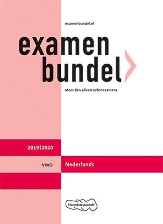 Boek cover Examenbundel vwo Nederlands 2019/2020 van  (Paperback)