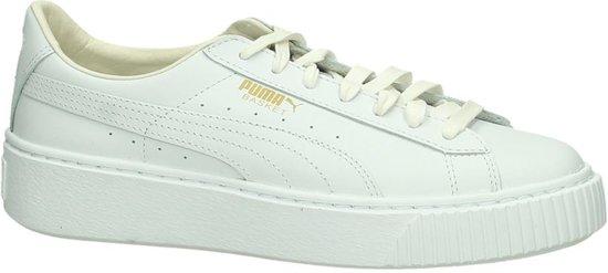 Puma Basket Puma Platform Sneakers Witte Basket Witte g7Ybf6yv