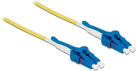 DeLOCK 85084 Glasvezel kabel 2 m OS2 LC Geel