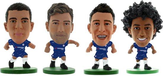 Soccerstarz voetbalpoppetjes CHELSEA 4-pack ⚽ Eden Hazard ⚽ Marcos Alonso ⚽ Gary Cahill ⚽ Willian