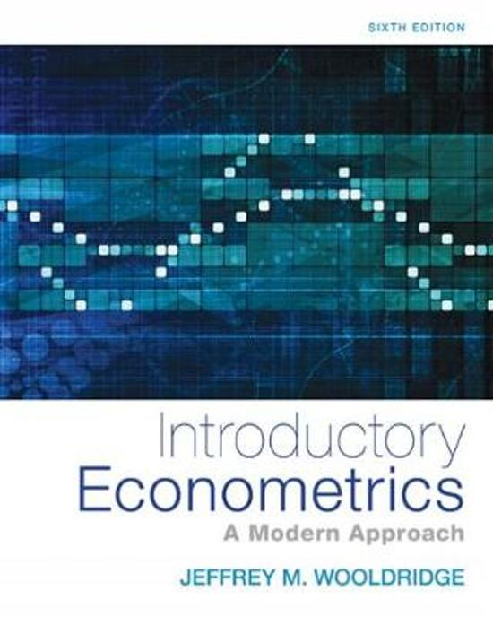 econometrics notes This section contains the lecture notes used in the course.