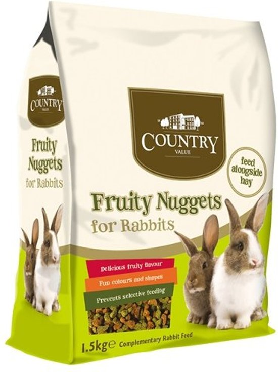 Burgess country value fruity nuggets rabbit 10 kg