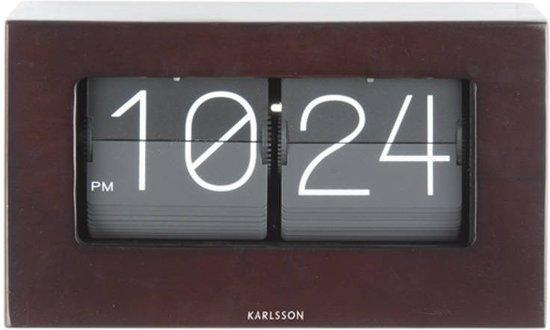 Karlsson Flip Klok : Bol karlsson staande klok boxed flip kleur donker hout