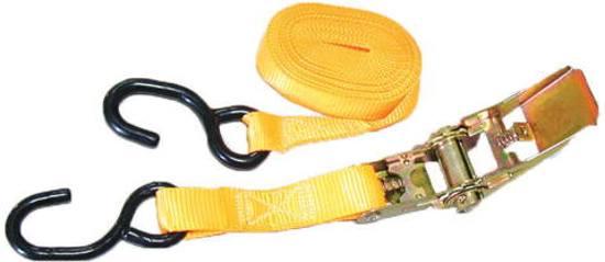 Lalizas Ratchet Tie-Down w/ S hook, 3mx25mm, BL 500kg
