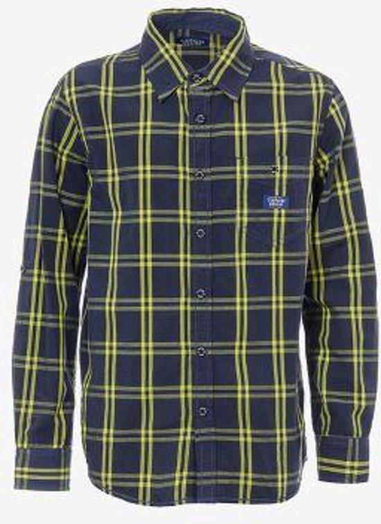 Geel Overhemd.Bol Com Tiffosi Jongens Overhemd Blouse Fluo Kleur Geel Blauw