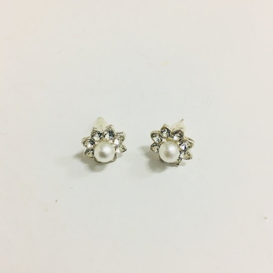 Fashionidea - Mooie witte parel oorbellen de Pearl Heart Flower Earrings