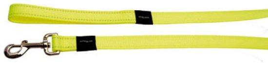 Rogz For Dogs Snake Long Hondenriem - 16 mm x 1.8 m - Geel