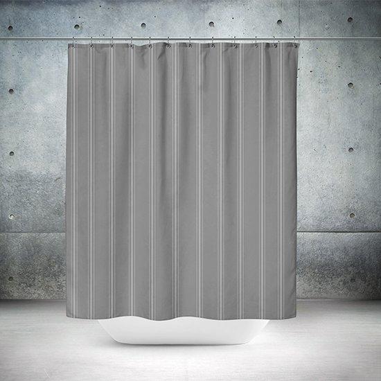 Roomture - douchegordijn - Classical antracite  - 180 x 200