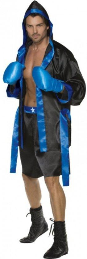 Bokser kostuum heren zwart en blauw