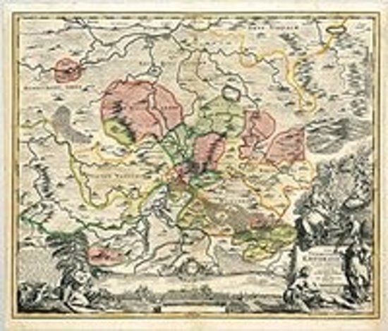 Historische Karte: Stadtgebiet von Erfurt und ihren Vogteien und Dörfern 1712 (Plano)
