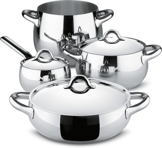 Alessi Mami Pannenset, 4-delig