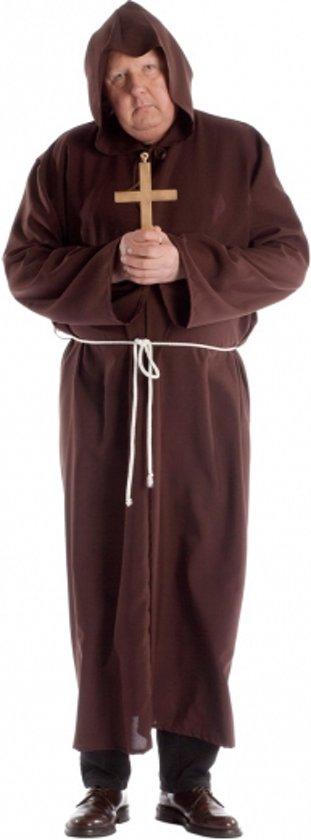 Grote maten monnik kostuum voor volwassenen 58 (3xl)
