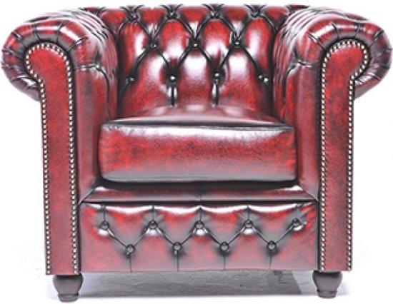Chesterfield Original Brighton 3+1-zits Antiek Rood