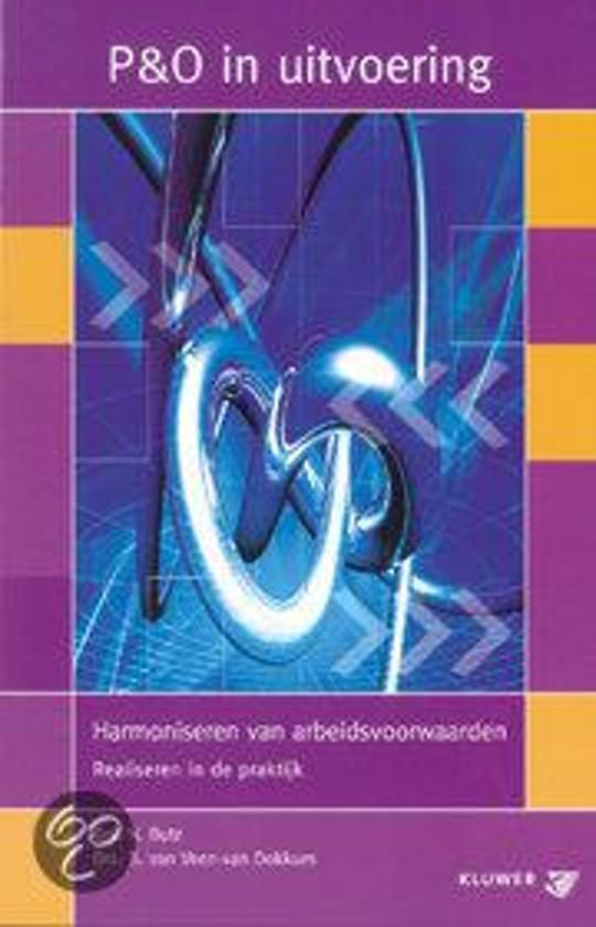Cover van het boek 'Harmoniseren van arbeidsvoorwaarden / druk 1' van N. Butz en B. van Veen -