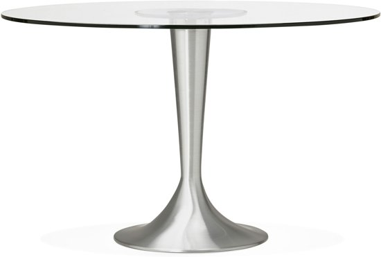 Glazen Tafelblad Rond.Bol Com 24designs Ronde Eettafel Ravi O120x76 Glazen