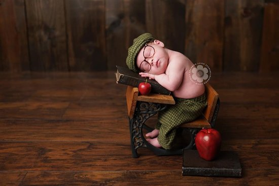 Four Tiny Cousins Olive Plaid Newsboy Set Retro Babykleding Jongens -3 - 6 m