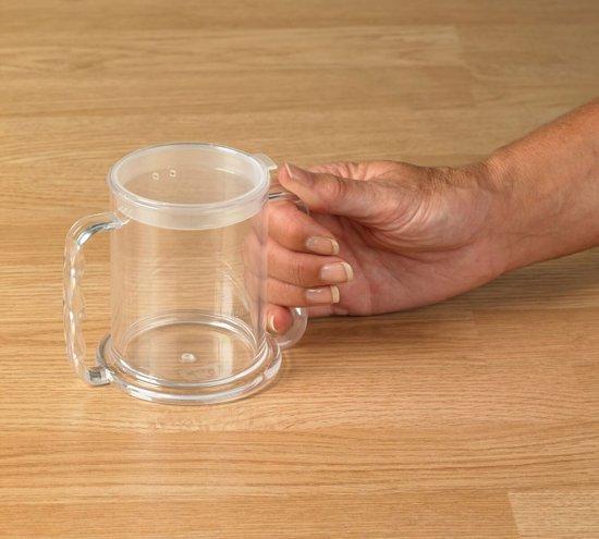 Transparante beker met 2 handvatten en 2 tuitjes Independence 285 ml