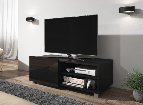 Meubella Tv Meubel Galia Zwart 100 Cm