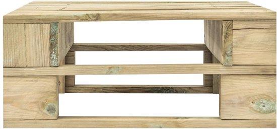 vidaXL Pallet tuinpoef FSC hout groen