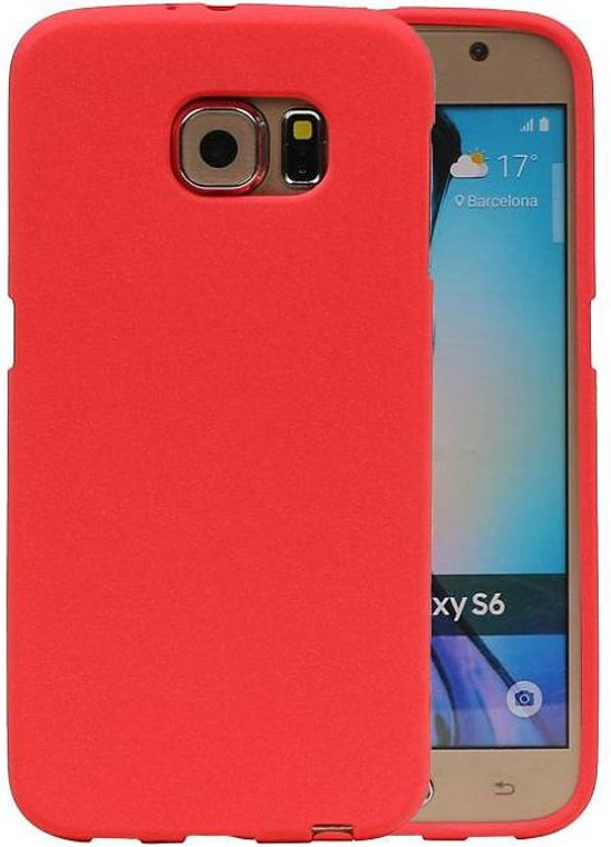 Samsung Galaxy S6 Hoesje Sand Look TPU Rood
