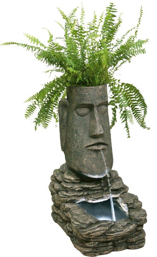 Paaseiland Plantenbak Fontein op Zonne-Energie met Led Verlichting - H73cm van Solaray