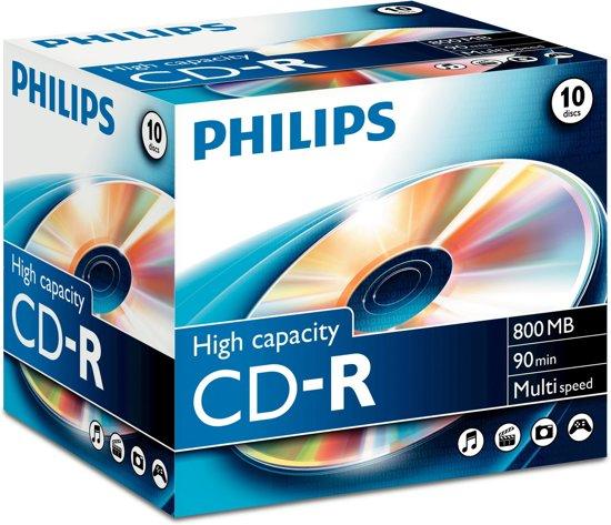 Philips CD-R 800 MB 10 stuks