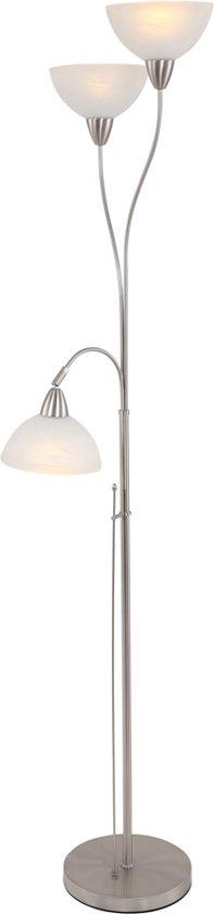 Steinhauer Burgundy - Vloerlamp - 3 lichts - Staal