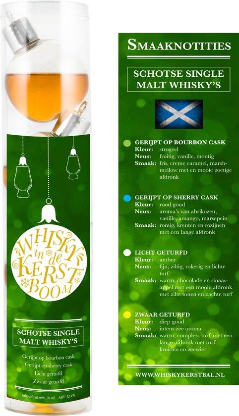 Whisky kerstballen - 4 stuks