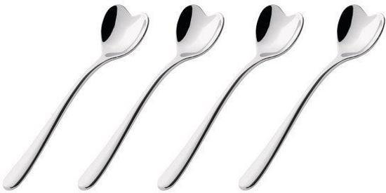 Alessi Koffielepels hartvorm 4 stuks - rvs
