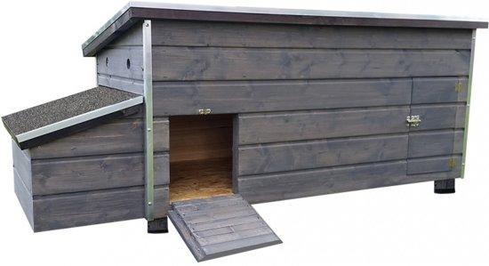 Duvo+ Kippenhok Dagmar 1 - Grijs - 134 x 75 x 78cm