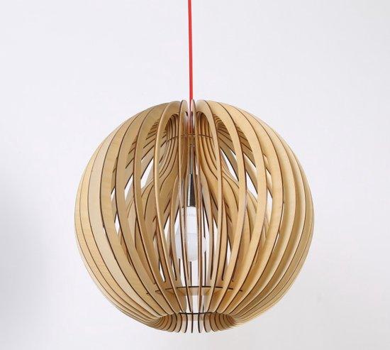 Ongebruikt bol.com | Design Hanglamp Narcis Hout, Naturel, H40 x B42 x D42cm BF-34