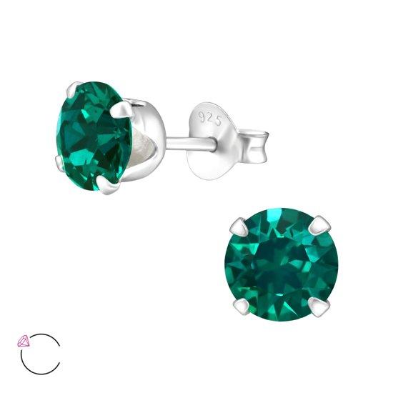 beste verkoop groothandel online couponcodes Oorbellen met Swarovski steen emerald 6mm