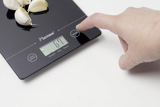 Bestron AKS700Z - Digitale Keukenweegschaal  - Zwart