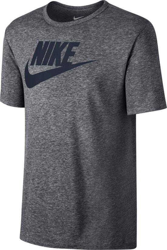Nike Sportswear Tee Icon Futura Sportshirt Heren Grijs Antraciet