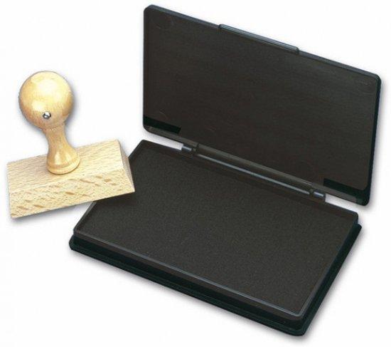 Stempelkussen zwart 7 x 11 cm
