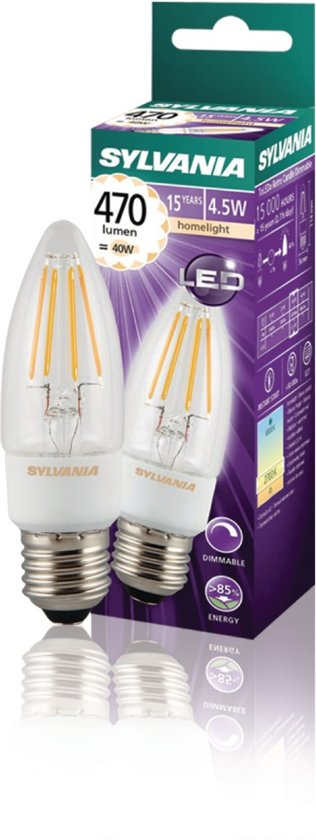 Sylvania 0027294 4.5W E27 A++ LED-lamp energy-saving lamp