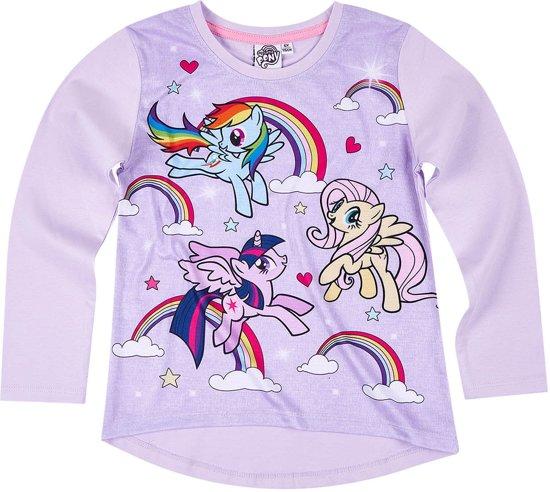 My Little Pony T-shirt-met-lange-mouw-paars - Maat 116