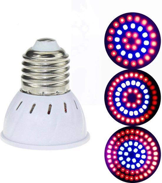 LED Groei Lamp met 54 leds |KWEEK led lamp |Voor Groei en Bloei  | 3 Stuks /