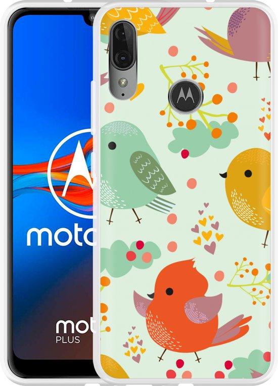 Motorola Moto E6 Plus Hoesje Cute Birds