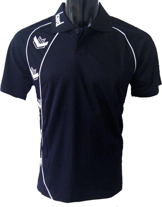 KWD Poloshirt Pronto korte mouw - Zwart/wit - Maat XXL