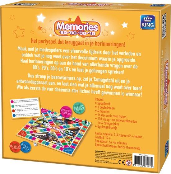 Memories - King Bordspel - Nostalgisch Vraag en Antwoordspel - Vanaf 12 Jaar