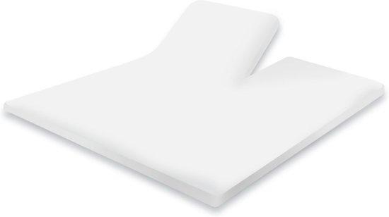 Hoeslaken Splittopper Katoen Perkal Elegance - wit 160x200