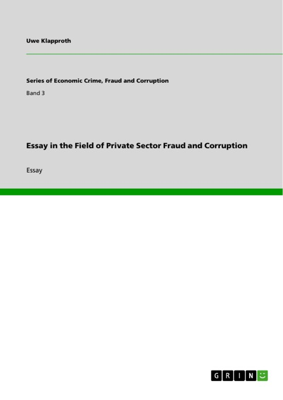 Essay in the Field of Private Sector Fraud and Corruption